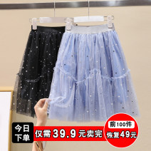 skirt Size 110, Size 120, Size 130, size 140, size 150, size 160, size 170 Black, blue Other / other female Other 100% summer skirt lady other Cotton blended fabric Lace Star Dress Class B