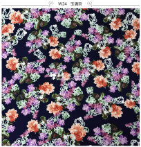 Fabric / fabric / handmade DIY fabric cotton Loose shear piece Plants and flowers printing and dyeing clothing Countryside 100% W24