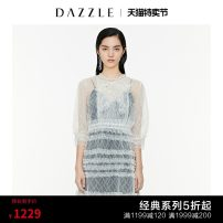 Dress Summer 2020 white XS S M Mid length dress Two piece set Short sleeve commute other other other One pace skirt routine 30-34 years old T-type Dazzle / geoelement Retro Lace 2C2O6037B More than 95% nylon Polyamide (nylon) 95% new polyester 5.00%