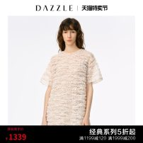 Dress Autumn 2020 Flesh color (including skirt) pink (including skirt) XS S M Middle-skirt other Short sleeve commute Crew neck other other One pace skirt routine 30-34 years old T-type Dazzle / geoelement lady Lace 2C3O4017J More than 95% nylon Polyamide fiber (nylon) 100%