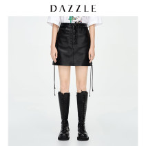 skirt Spring 2021 XS S M black Short skirt commute Natural waist A-line skirt Type A 30-34 years old 2D1S2301A More than 95% Dazzle / geoelement polyester fiber Pocket zipper Simplicity Polyester 100% Same model in shopping mall (sold online and offline)