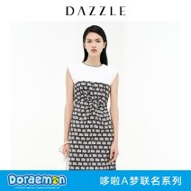 Dress Summer 2021 black XS S M Mid length dress singleton  Sleeveless commute other Cartoon animation zipper other 30-34 years old T-type Dazzle / geoelement lady 2D2O3106A More than 95% other cotton Cotton 100% Same model in shopping mall (sold online and offline)