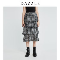 skirt Spring of 2019 XS S M Dark green longuette Retro High waist Fairy Dress lattice Type A 30-34 years old 2G1S4143Q 51% (inclusive) - 70% (inclusive) Dazzle / geoelement cotton Splicing Cotton 58% polyester 42% Same model in shopping mall (sold online and offline)