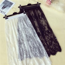 skirt Winter 2016 Average size The short one is lined. White, short with lining. Black, short, unlined. White, short, unlined. Black, long, unlined. White, long, unlined. black Mid length dress commute Natural waist Princess Dress Solid color 18-24 years old 30% and below Lace other Lace