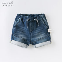 trousers DAVE&BELLA male 73cm 80cm 90cm 100cm 110cm 120cm 130cm Denim [in stock] denim - pre sale summer shorts Europe and America No model Jeans Leather belt middle-waisted other Other 100% Class A Summer 2020