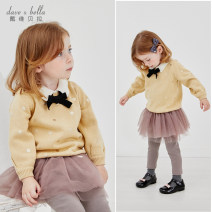 Sweater / sweater 66cm 73cm 80cm 90cm 100cm 110cm 120cm 130cm cotton female Apricot [spot] apricot - pre sale DAVE&BELLA Europe and America There are models in the real shooting Socket routine other nothing Fine wool other Other 100% DBM14800-1 Class A Long sleeves Spring 2021 spring and autumn