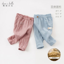 trousers DAVE&BELLA female 73cm 80cm 90cm 100cm 110cm 120cm 130cm spring and autumn trousers Europe and America No model Casual pants Leather belt middle-waisted flax Other 100% 12 months 6 months 9 months 18 months 2 years 3 years 4 years 5 years 6 years 7 years old