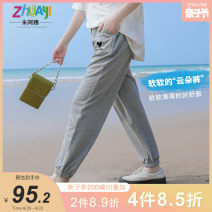trousers Aunt Zhu female 150cm 160cm 165cm 170cm 175cm Gray [spot] summer trousers leisure time There are models in the real shooting Casual pants Leather belt middle-waisted other Don't open the crotch Other 100% Class B Summer 2021 Chinese Mainland
