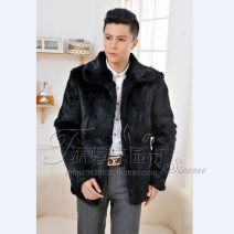leather clothing Youth fashion Black, brown have cash less than that is registered in the accounts leather and fur Lapel Slim fit Single breasted winter Rabbit fur Straight hem Side seam pocket No iron treatment
