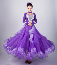 Modern dance suit (including performance clothes) Waltz, tango, Foxtrot, trot female S,M,L,XL,XXL,XXXL other