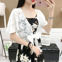short coat Summer 2020 M (recommended 80-130 kg), l (recommended 130-150 kg), XL (recommended 150-190 kg) White, black Short sleeve have cash less than that is registered in the accounts Thin money singleton  easy Versatile Bat sleeve Lace, lace