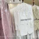short coat Spring 2021 2,4 Cream yellow (with belt) , Tender apricot (with belt) , Gentle white (with belt) , Rose powder (with belt) , Primrose yellow (with belt) , Gentle white (with belt) , Primrose yellow (with belt) , Milk yellow (with belt) Home only 96% and above WT21308 other