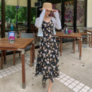 Dress Winter of 2019 S,M,L Mid length dress singleton  Sleeveless commute V-neck middle-waisted Decor Socket A-line skirt camisole 25-29 years old Type A Miss Moso Retro 31% (inclusive) - 50% (inclusive) other polyester fiber