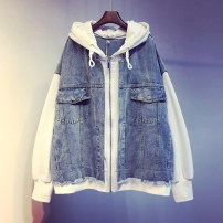 short coat Spring of 2019 Average size White, pink Long sleeves routine singleton  easy zipper 18-24 years old 96% and above