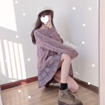 skirt Winter of 2018 S. M, l, XL, one size fits all Purple chestnut plaid skirt, purple no tie, purple tie, green chestnut plaid skirt, green no tie, green tie, check and then remove the positioning line