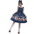 Lolita / soft girl / dress Magic tea party Red, blue S,M,L,XL No season Lolita