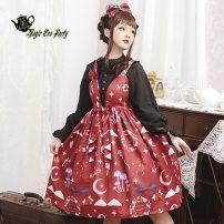 Lolita / soft girl / dress Magic tea party Black, white, blue, red S,M,L,XL No season Lolita