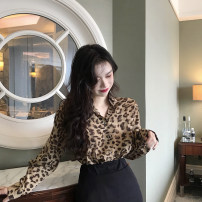 shirt polyester fiber 51% (inclusive) - 70% (inclusive) Autumn 2019 commute 18-24 years old B8450 Korean version Other / other One size fits all Leopard Print