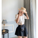 skirt Spring 2020 S,M,L Black relief Short skirt commute High waist Irregular Solid color Type A 18-24 years old Macchagirl