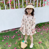 Dress Beige female Other / other 7(90cm),9(100cm),11(110cm),13(120cm),15(130cm) Other 100% spring and autumn Korean version Long sleeves other other F5166 2 years old, 3 years old, 4 years old, 5 years old, 6 years old Chinese Mainland