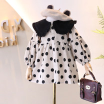 Dress Graph color female Other / other 7(90cm),9(100cm),11(110cm),13(120cm),15(130cm) Other 100% spring and autumn princess Long sleeves Dot other other 2 years old, 3 years old, 4 years old, 5 years old, 6 years old