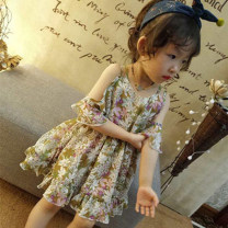 Dress Graph color female Other / other 7(90cm),9(100cm),11(110cm),13(120cm),15(130cm) Other 100% summer Korean version Skirt / vest Broken flowers other A-line skirt 2 years old, 3 years old, 4 years old, 5 years old, 6 years old