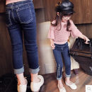 trousers Other / other female 7,9,11,13,15 Picture color B spring and autumn trousers Korean version Jeans Leather belt Don't open the crotch Jeans Seven, six, five, four, three