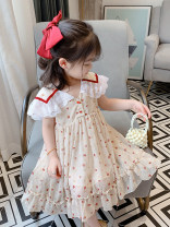 Dress Graph color female Other / other 7(90cm),9(100cm),11(110cm),13(120cm),15(130cm) Other 100% summer princess Short sleeve other other other 2 years old, 3 years old, 4 years old, 5 years old, 6 years old