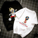 T-shirt White world cup black world cup pink world cup white mascot black mascot pink mascot White Small World Cup Black Small World Cup pink small world cup white small mascot black small mascot pink small mascot blue small mascot Blue World Cup Blue Small World Cup Summer of 2018 Short sleeve easy