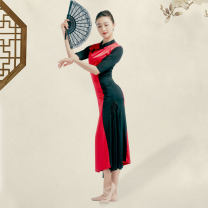 Classical Dance Costume M,L,XL,XXL Ice silk cotton Red, dark green, golden Odina ray female Chinese