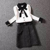 Fashion suit Winter 2020 S,M,L,XL White + black, black + black, apricot + khaki, khaki + khaki 25-35 years old D1744-2 31% (inclusive) - 50% (inclusive)
