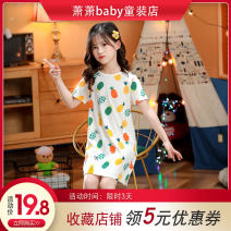 Home skirt / Nightgown Other / other 100cm,110cm,120cm,130cm,140cm,150cm,160cm Cotton 100% White, black, rose red, lotus root, red, yellow, purple summer male 3 years old, 5-7 years old, 5 years old, 7 years old, 6 years old, 7-9 years old, 4 years old Home Class B Pure cotton (100% cotton content)