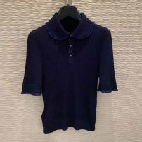 T-shirt black 2/S,3/M,4/L,5/XL Summer 2021 Short sleeve Polo collar Self cultivation Regular routine commute Viscose 71% (inclusive) - 85% (inclusive) Simplicity classic Solid color Brother amashsin 1399483-1T30422-003
