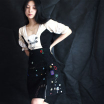 skirt Winter of 2019 S,M,L black MOON AND SAND