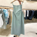 Dress Spring 2021 Green, white, black S,M,L,XL Mid length dress singleton  Sleeveless commute One word collar Solid color Socket Big swing camisole 18-24 years old Type A Korean version 51% (inclusive) - 70% (inclusive) other