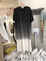 T-shirt black S,M,L,XL Spring 2021 Short sleeve Crew neck easy Medium length routine commute cotton 51% (inclusive) - 70% (inclusive) 18-24 years old Korean version