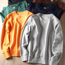 Sweater Fashion City Others Black, brown, Navy, green, light gray, turmeric M,L,XL,2XL Solid color Socket Crew neck