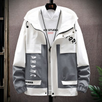 Jacket Semir / SEMA Youth fashion Gray, yellow, black, blue, green M,L,XL,2XL,3XL routine standard Other leisure spring GD661122 Polyester 100% Long sleeves Wear out Hood Youthful vigor teenagers routine Zipper placket 2021 Cloth hem No iron treatment Closing sleeve Color block polyester fiber