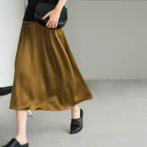 skirt Spring 2021 XS,S,M,L Mid length dress commute High waist Type A other ALOOF Cellulose acetate Simplicity