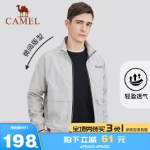 Jacket Camel Youth fashion D9f254311, black d9f254311, apricot d9f254311, taro flour S M L XL XXL XXXL XXXXL routine standard Other leisure D8F245534 Polyester 100% Long sleeves Wear out stand collar Basic public youth routine Zipper placket Cloth hem coating Closing sleeve Solid color Autumn of 2018