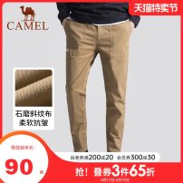Casual pants Camel Youth fashion M L XL XXL XXXL routine trousers motion easy Micro bomb Four seasons youth Basic public 2019 middle-waisted Little feet Cotton 97.3% polyurethane elastic fiber (spandex) 2.7% Sports pants Pocket decoration No iron treatment Solid color other Autumn of 2019