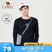 T-shirt Youth fashion D9a374363, light green d9a374363, color blue d9a374363, pink d9a374363, black (unit price T, non fake two pieces) routine M L XL XXL XXXL Camel Long sleeves Crew neck standard Other leisure D9A374363 Cotton 100% youth routine Basic public Knitted fabric Autumn of 2019 printing