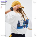 T-shirt Youth fashion white routine L let'sTEE W182011028 Cotton 100% other Summer of 2018 Same model in shopping mall (sold online and offline)