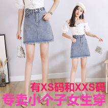 skirt Summer 2021 Xs, s, m, l, XL, 2XL, XXS for height 145-155 Blue 129 (without lining), blue 129-1 (with lining) Short skirt Versatile High waist Denim skirt Solid color Type A 18-24 years old More than 95% other Zhenyaluo other tassels