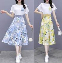 Fashion suit Summer 2021 Blue suit, pink suit, yellow suit 25-35 years old 81% (inclusive) - 90% (inclusive) polyester fiber