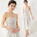 Dress Summer 2020 White (Brooch strap with gold zipper on back) S,M,L longuette singleton  Sleeveless commute High waist A-line skirt camisole 18-24 years old Type A lady 31% (inclusive) - 50% (inclusive) Lace