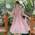 Dress Autumn of 2019 Pink, green, off white Average size