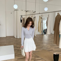 skirt Spring 2021 S, M Milk white spot, milk white pre-sale 4-6 working days Short skirt commute Natural waist Fluffy skirt Solid color Type A 18-24 years old L402 31% (inclusive) - 50% (inclusive) cotton Simplicity