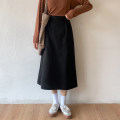 skirt Winter 2020 S,M,L Black, apricot, pink longuette commute High waist A-line skirt Solid color Type A 18-24 years old 71% (inclusive) - 80% (inclusive) Wool polyester fiber zipper Korean version