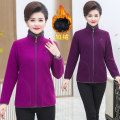 Middle aged and old women's wear Winter 2020, autumn 2020 Rose red, deep purple, bright red, snow blue, jujube red XL [recommended 80-100 kg], 2XL [recommended 100-120 kg], 3XL [recommended 120-140 kg], 4XL [recommended 140-160 kg], 5XL [recommended 160-180 kg] leisure time Jacket / jacket singleton